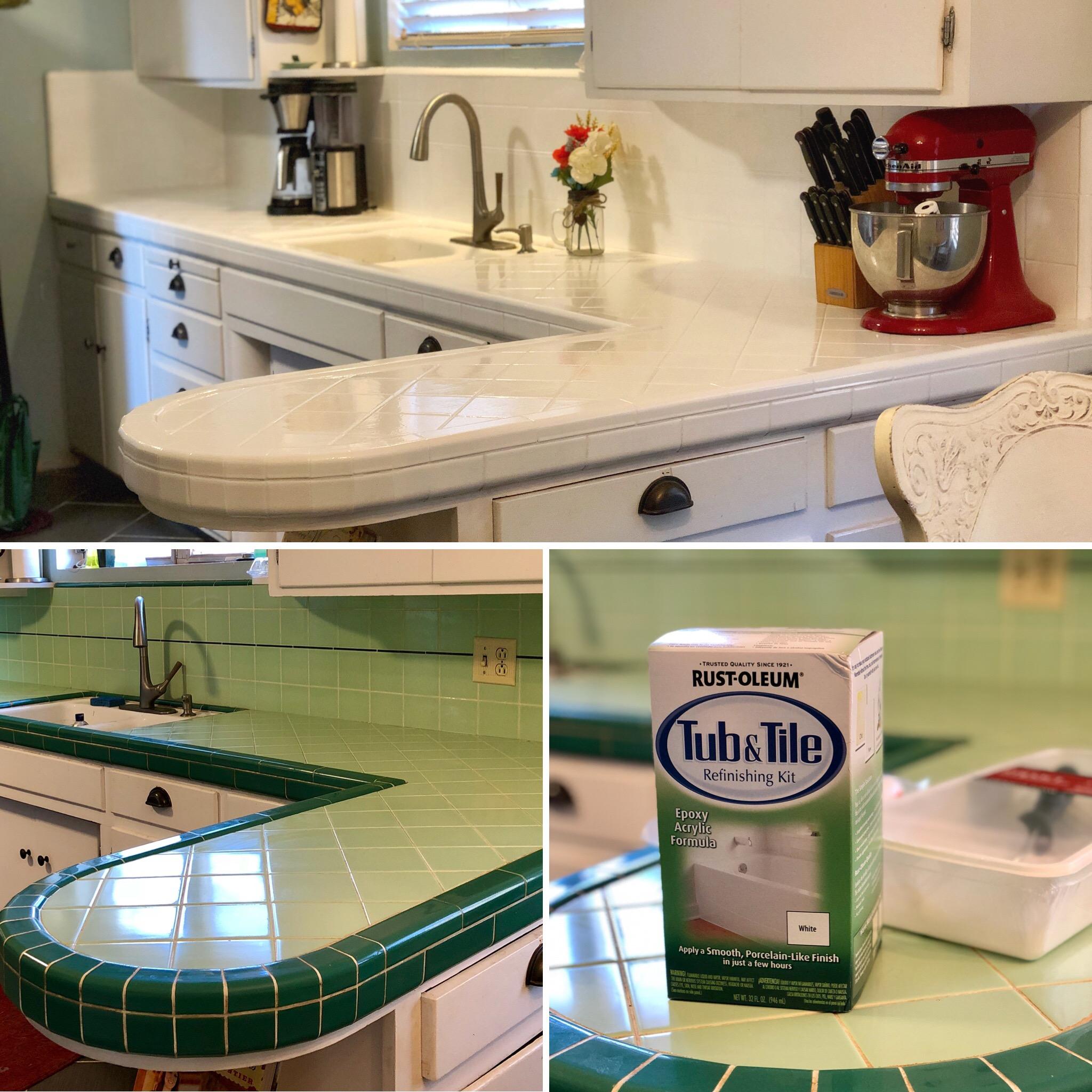 Kitchen Tile Countertop Refresh Red Door Blue House